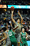 03 APR 2012: Brittney Griner (42) of Baylor University takes a shot against Markisha Wright (34) of the University of Notre Dame during the Division I Women's Basketball Championship held at the Pepsi Center in Denver, CO. Stephen Nowland/NCAA Photos
