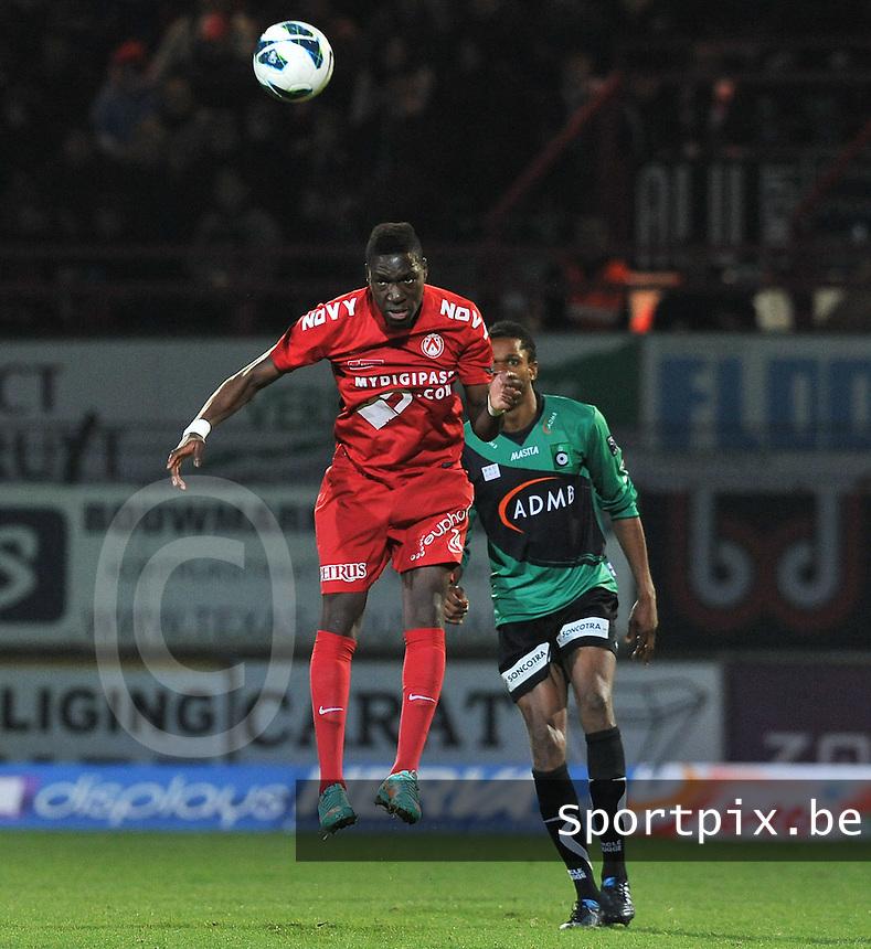 KV Kortrijk - Cercle Brugge  : Blanstel Koussalouka.foto VDB / BART VANDENBROUCKE