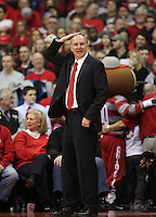 Ohio State head coach Thad Matta during the first half against against North Florida, Friday, Nov. 29, 2013, in Columbus, Ohio. (Photo by Terry Gilliam)