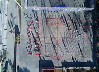 Glorieta insurgentes, Condesa/Roma, aerial drone photography, Mexico City, Mexico