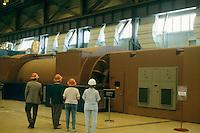PGE TROJAN NUCLEAR POWER GENERATING PLANT<br /> Turbine generators with medium pressure turbine at right