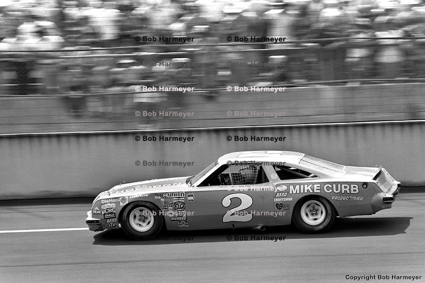 TALLADEGA, AL - MAY 4: Dale Earnhardt drives in the Winston 500 on May 4, 1980, at the Talladega Superspeedway near Talladega, Alabama.