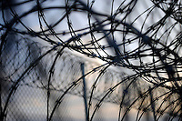 USA. Angola. 21st April 2008..Razor wire surrounding Death Row..©Andrew Testa