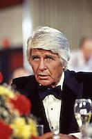 "Jim Davis as Jock Ewing on set of ""Dallas,"" TV Show, 1980."