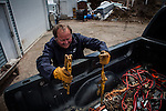 Former Montana Governor Brian Schweitzer unloads equipment at a friend's home in Anaconda, Montana, May 7, 2014.<br /> CREDIT: Max Whittaker/Prime for The Wall Street Journal<br /> BRIAN
