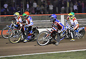 Heat 9 - Kasprzak (red), Lanham (blue), Moore (yellow), Ulamek (green) - Lakeside Hammers vs Swindon Robins - Sky Sports Elite League at Arena Essex, Purfleet - 17/08/07  - MANDATORY CREDIT: Gavin Ellis/TGSPHOTO - SELF-BILLING APPLIES WHERE APPROPRIATE. NO UNPAID USE. TEL: 0845 094 6026..
