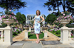 29/06/2015<br /> <br /> RHS Hampton Court Palace Flower Show prepares to open to the public.<br /> <br /> TV presenter, on Good Morning Britain, outside A Growing Obsession - The Yardley London Perennial Garden by Jean Wardrop and Alexandra Stevenson