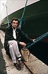Nicolas Bouvier during book fair Etonnants Voyageurs in Saint Malo, France in 1991.