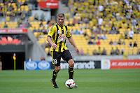 Benjamin Sigmund during the A League - Wellington Phoenix v Adelaide United, Wellington, New Zealand on Sunday 30 March 2014. <br /> Photo by Masanori Udagawa. <br /> www.photowellington.photoshelter.com.