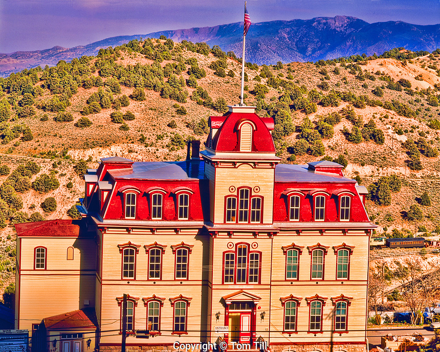 Refurbished Fourth Ward School, Virginia City, Center of the famous Comstock Silver and Gold Mining bonanza, Nevada