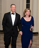 Governor Martin O'Malley (Democrat of Maryland), and Katie O'Malley arrive for the Official Dinner in honor of Prime Minister David Cameron of Great Britain and his wife, Samantha, at the White House in Washington, D.C. on Tuesday, March 14, 2012..Credit: Ron Sachs / CNP.(RESTRICTION: NO New York or New Jersey Newspapers or newspapers within a 75 mile radius of New York City)