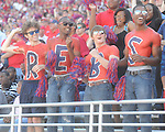 Ole Miss fans cheer at Vaught-Hemingway Stadium in Oxford, Miss. on Saturday, October 2, 2010. Ole Miss won 42-35 to improve to 3-2..