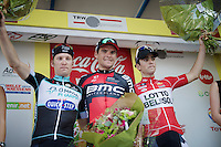 podium boys:<br /> 1/ Greg Van Avermaet (BEL/BMC)<br /> 2/ Tony Gallopin (FRA/Lotto-Belisol)<br /> 3/ Jan Bakelants (BEL/OmegaPharma-Quickstep)<br /> <br /> Grand Prix de Wallonie 2014