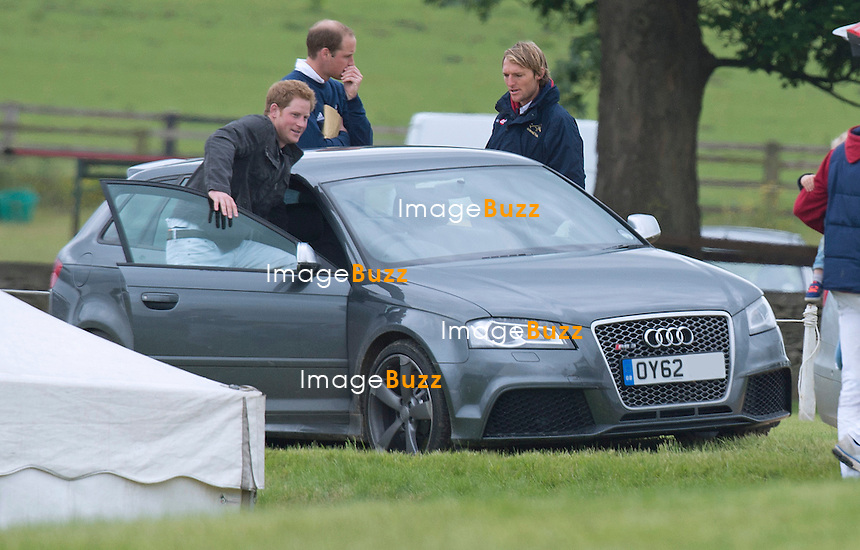 PRINCEs WILLIAM AND HARRY<br /> after the charity polo match at the Beaufort Polo Club_16/06/2013