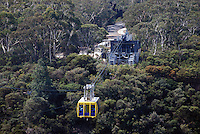 Scenic Skyway, Blue Mountains, New South Wales, Australia, takes you on a 720 metre journey, 270m above ancient ravines and dazzling waterfalls.  You are suspended over Jurassic rainforests as you glide smoothly across the sky. This ride boasts a world first - an Electro-Sceniglass floor.  At the flip of a switch, breathtaking views are revealed through the cabin floor..The 360 degree bird's eye view from the Skyway takes in the Three Sisters, Katoomba Falls, Mount Solitary and the Jamison Valley. 201003273481...Copyright Image from Victor Patterson, 54 Dorchester Park, Belfast, UK, BT9 6RJ..Tel: +44 28 9066 1296.Mob: +44 7802 353836.Voicemail +44 20 8816 7153.Skype: victorpattersonbelfast.Email: victorpatterson@mac.com.Email: victorpatterson@ireland.com (back-up)..IMPORTANT: If you wish to use this image or any other of my images please go to www.victorpatterson.com and click on the Terms & Conditions. Then contact me by email or phone with the reference number(s) of the image(s) concerned.