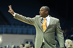 24 November 2012: La Salle head coach Jeff Williams. The University of North Carolina Tar Heels played the La Salle University Explorers at Carmichael Arena in Chapel Hill, North Carolina in an NCAA Division I Women's Basketball game. UNC won the game 85-55.