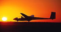 Segelflug ASK 21, Sonnenuntergang, Doppelsitzer