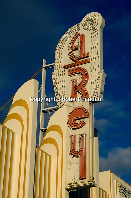 El Rey theater Art Deco sign on Wilshire Blvd. in Los Angeles, CA
