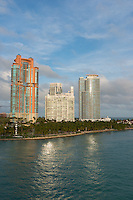 Luxurious Apartment buildings in Miami South Beach near South Pointe Park
