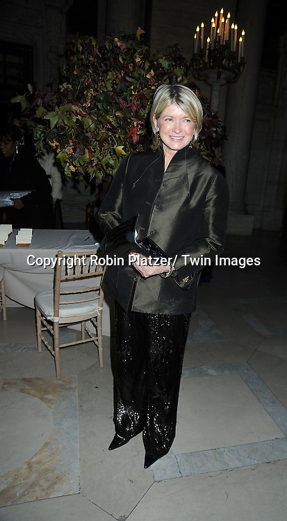 Martha Stewart attending The New York Public Library honors the 2010 Library Lions including, Malcolm Gladwell, Ethan Hawke, Paul LeClerc, Steve Martin and Zadie Smith on November 1, 2010 at The New York Public Library on Fifth Avenue and 42nd Street.