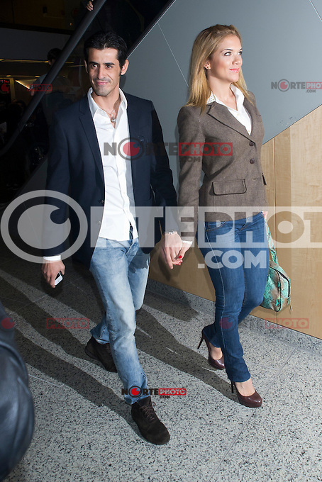 03.10.2012. Celebrities attending the premiere of the show ´Eoloh´, at the  Teatros del Canal, Madrid,  Spain. In the image Victor Janeiro and Beatriz Trapote (Alterphotos/Marta Gonzalez)