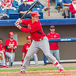 7 March 2015: St. Louis Cardinals catcher Michael Ohlman in Spring Training action against the Washington Nationals at Space Coast Stadium in Viera, Florida. The Cardinals fell to the Nationals 6-5 in Grapefruit League play. Mandatory Credit: Ed Wolfstein Photo *** RAW (NEF) Image File Available ***
