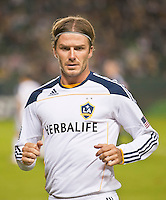 CARSON, CA - September 17, 2011: LA Galaxy midfielder David Beckham (23) during the match between LA Galaxy and Vancouver Whitecaps at the Home Depot Center in Carson, California. Final score LA Galaxy 3, Vancouver Whitecaps 0.