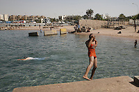 boys in the red sea in Aqaba, Jordan, may 13, 2013. Photo by Oren Nahshon