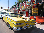 Classic Yellow Taxi, Route 66, Seligman, Arizona, USA