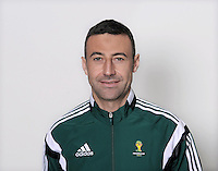 FUSSBALL Fototermin FIFA WM Schiedsrichterassistenten 09.04.2014 Renato FAVERANI (Italien)