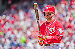 24 May 2015: Washington Nationals infielder Danny Espinosa at bat against the Philadelphia Phillies at Nationals Park in Washington, DC. The Nationals defeated the Phillies 4-1 to take the rubber game of their 3-game weekend series. Mandatory Credit: Ed Wolfstein Photo *** RAW (NEF) Image File Available ***