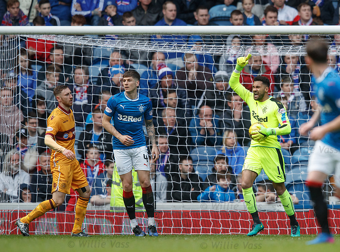 Wes Foderingham riled up in goal