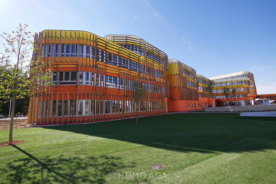 Vienna, Austria. Opening Day of the new WU Campus (University of Economics).<br /> D3 (Departments 3) by CRABstudio Architects, London.
