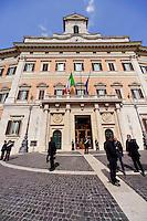 Roma 16 Marzo2013.Montecitorio, secondo giorno della  XVII legislatura..L'ingresso  della Camera dei Deputati .