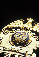 Close-up of Police Badge