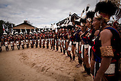 Tribes from different parts of Nagaland gather to attend the 10th Hornbill festival in the heritage village in Kisama, outskirts of Kohima, Nagaland, India. Photograph: Sanjit Das
