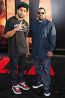 """HOLLYWOOD, LOS ANGELES, CA, USA - MAY 08: Oshea Jackson Jr., Ice Cube at the Los Angeles Premiere Of Warner Bros. Pictures And Legendary Pictures' """"Godzilla"""" held at Dolby Theatre on May 8, 2014 in Hollywood, Los Angeles, California, United States. (Photo by Xavier Collin/Celebrity Monitor)"""
