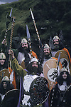 Up Helly Aa. Lerwick Sheltand. Scotland. Fire festival.<br />