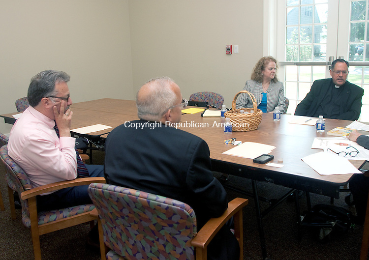 GUILFORD CT- JUNE 10 2015 061015DA04- A meeting was held at St. George Church in Guilford on Wednesday to discuss how the catholic church is doing and how to keep them coming or how to get them back.<br /> Darlene Douty Republican American