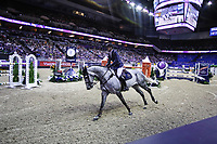 OMAHA, NEBRASKA - MAR 30: Nicola Philippaerts rides H&M Harley vd Bisschop during the FEI World Cup Jumping Final II at the CenturyLink Center on March 31, 2017 in Omaha, Nebraska. (Photo by Taylor Pence/Eclipse Sportswire/Getty Images)