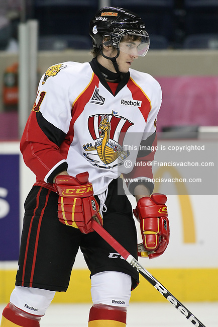 QMJHL (LHJMQ) hockey profile photo on Baie-Comeau Drakkar Tomas Filippi October 8, 2011 at the Colisee Pepsi in Quebec city.