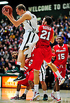 12 December 2010: University of Vermont Catamount guard Sandro Carissimo, a Freshman from Sleepy Hollow, NY, in action against the Marist College Red Foxes at Patrick Gymnasium in Burlington, Vermont. The Catamounts (7-2) defeated the Red Foxes  75-67 notching their 7th win of the season, and their best start since the '63-'64 season. Mandatory Credit: Ed Wolfstein Photo