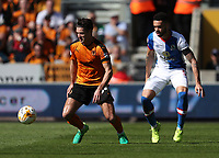Wolverhampton Wanderers' Ben Marshall and Blackburn Rovers' Derrick Williams<br /> <br /> Photographer Rachel Holborn/CameraSport<br /> <br /> The EFL Sky Bet Championship - Wolverhampton Wanderers v Blackburn Rovers - Saturday 22nd April 2017 - Molineux - Wolverhampton<br /> <br /> World Copyright &copy; 2017 CameraSport. All rights reserved. 43 Linden Ave. Countesthorpe. Leicester. England. LE8 5PG - Tel: +44 (0) 116 277 4147 - admin@camerasport.com - www.camerasport.com