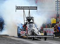 Apr 10, 2015; Las Vegas, NV, USA; NHRA top fuel driver Larry Dixon during qualifying for the Summitracing.com Nationals at The Strip at Las Vegas Motor Speedway. Mandatory Credit: Mark J. Rebilas-