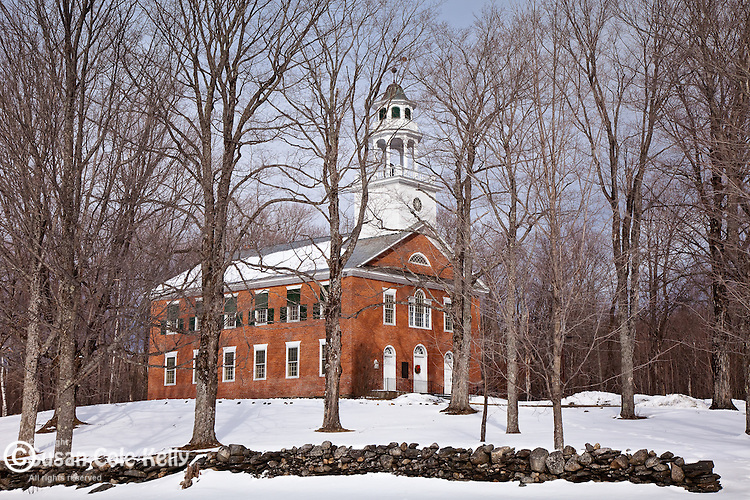 Weathersfield Center Meeting House in Weathersfield, VT, USA