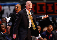 CHAMPAIGN, IL - JANUARY 05: Head coach John Groce of the Illinois Fighting Illini seen during the game against the Ohio State Buckeyes at Assembly Hall on January 5, 2013 in Champaign, Illinois. Ilinois defeated Ohio State 74-55. (Photo by Michael Hickey/Getty Images) *** Local Caption *** John Groce