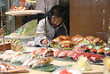Apr 10, 2010 - Tokyo, Japan - Plastic food are displayed at a restaurant supply store located in Kappabashi street in Tokyo on April 10, 2010. Kappabashi-dori, also known just as Kappabashi or Kitchen Town, is almost entirely populated with shops supplying mass-produced crockery, restaurant furniture, ovens and decorations, through to esoteric items such as the plastic display food  (sampuru). Replica foods are also popular as souvenirs for tourists.