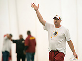 New head coach Jay Gruden directs the Washington Redskins' rookie minicamp at Redskins Park in Ashburn, Virginia on Saturday, May 17, 2014.<br /> Credit: Ron Sachs / CNP