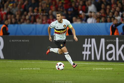 Eden Hazard (BEL), JULY 1, 2016 - Football / Soccer : UEFA EURO 2016 Quarter-finals match between Wales 3-1 Belgium at the Stade Pierre Mauroy in Lille Metropole, France. (Photo by Mutsu Kawamori/AFLO) [3604]