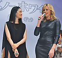 "Charlize Theron and Koyuki, May 20, 2012 : Tokyo, Japan : Actress Koyuki(L) and Actress Charlize Theron attend a premiere event for the film ""Snow White & the Huntsman"" wearing a skin tight black leather dress in Tokyo, Japan, on May 20, 2012.the film will open June 15 in Japan."